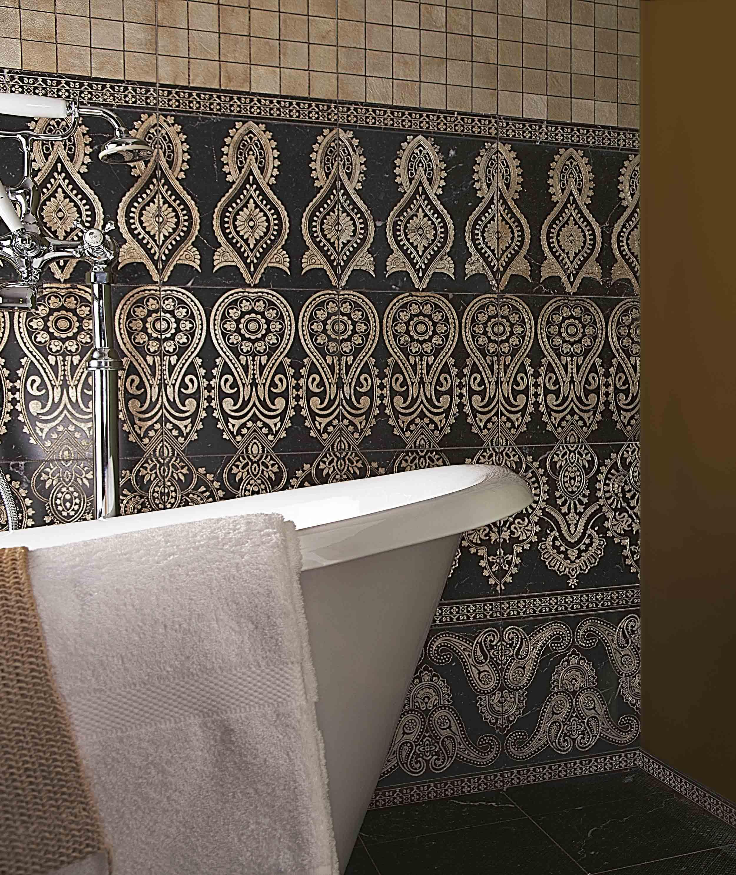 Lithos Mosaico Italia INNA NERO - OLD SILVER