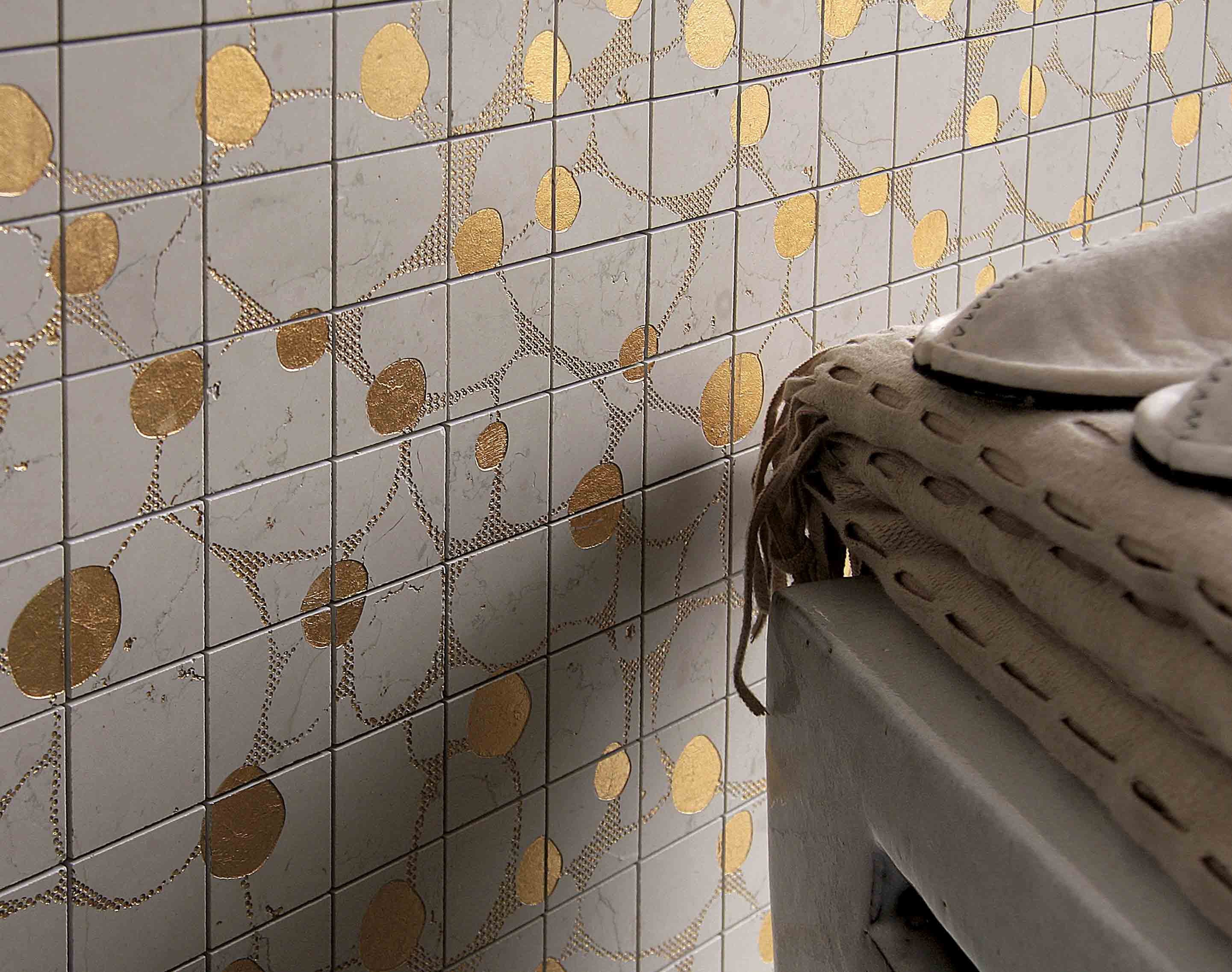 Lithos Mosaico Italia Atollo 50 BP - gold