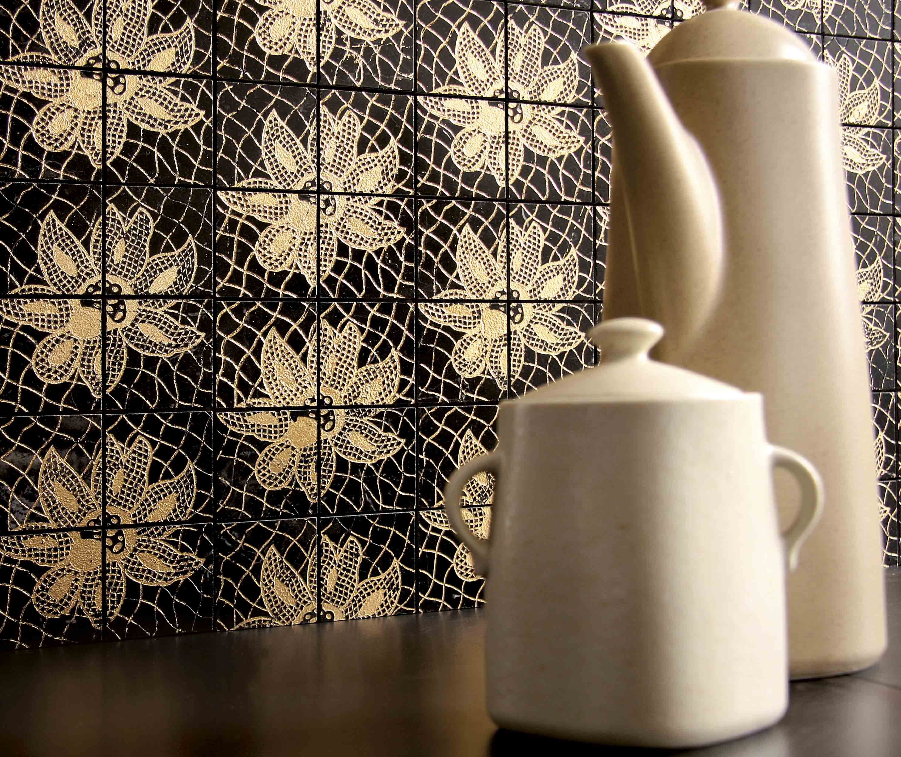 Lithos Mosaico Italia Romantic 50 NERO - gold