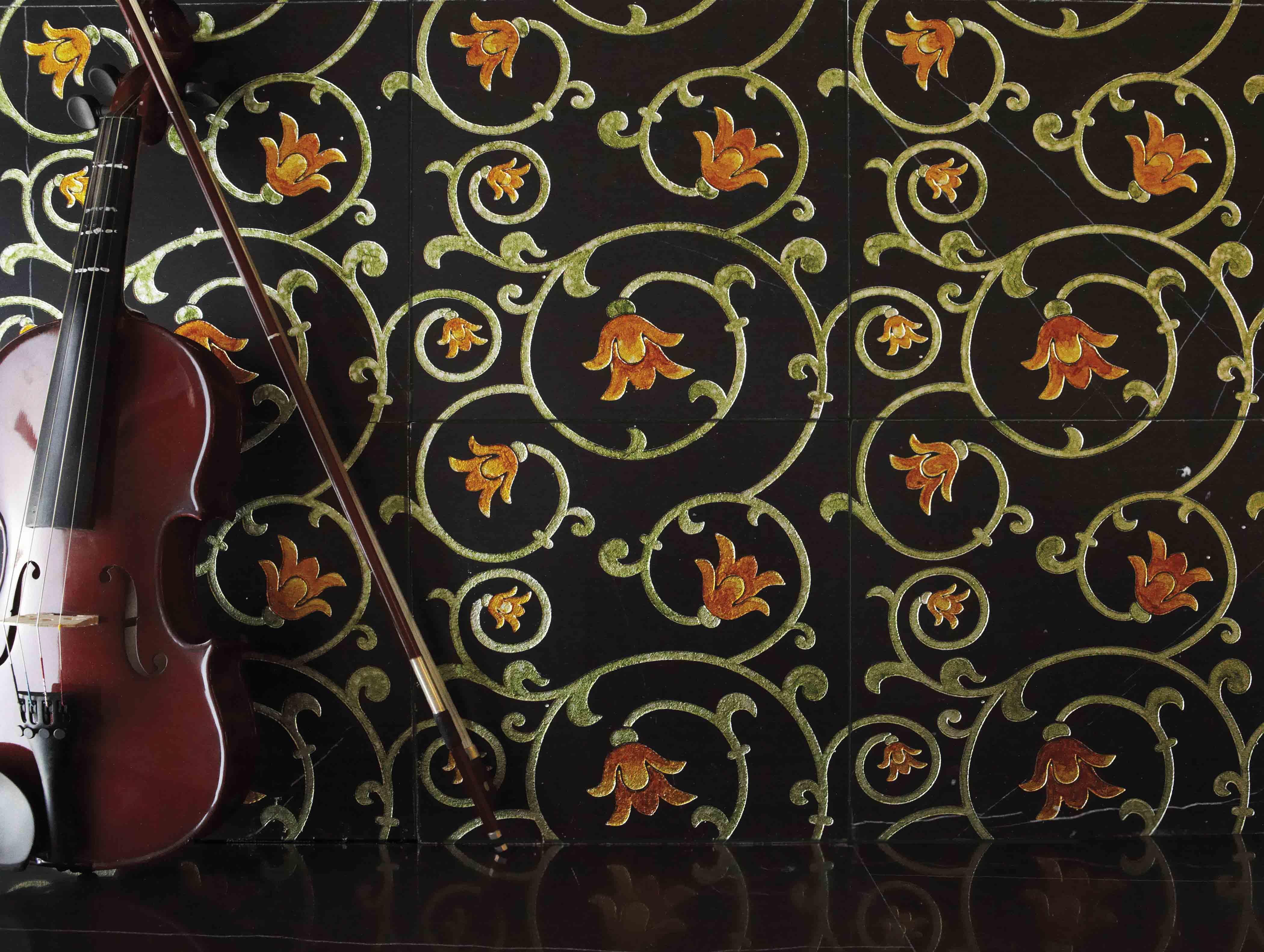 Lithos Mosaico italia Shirley 305 NERO - silver- verde, giallo
