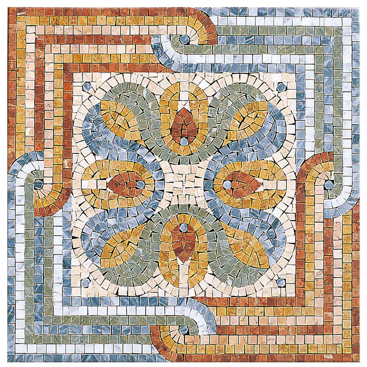 Poseidone Lithos mosaico italia