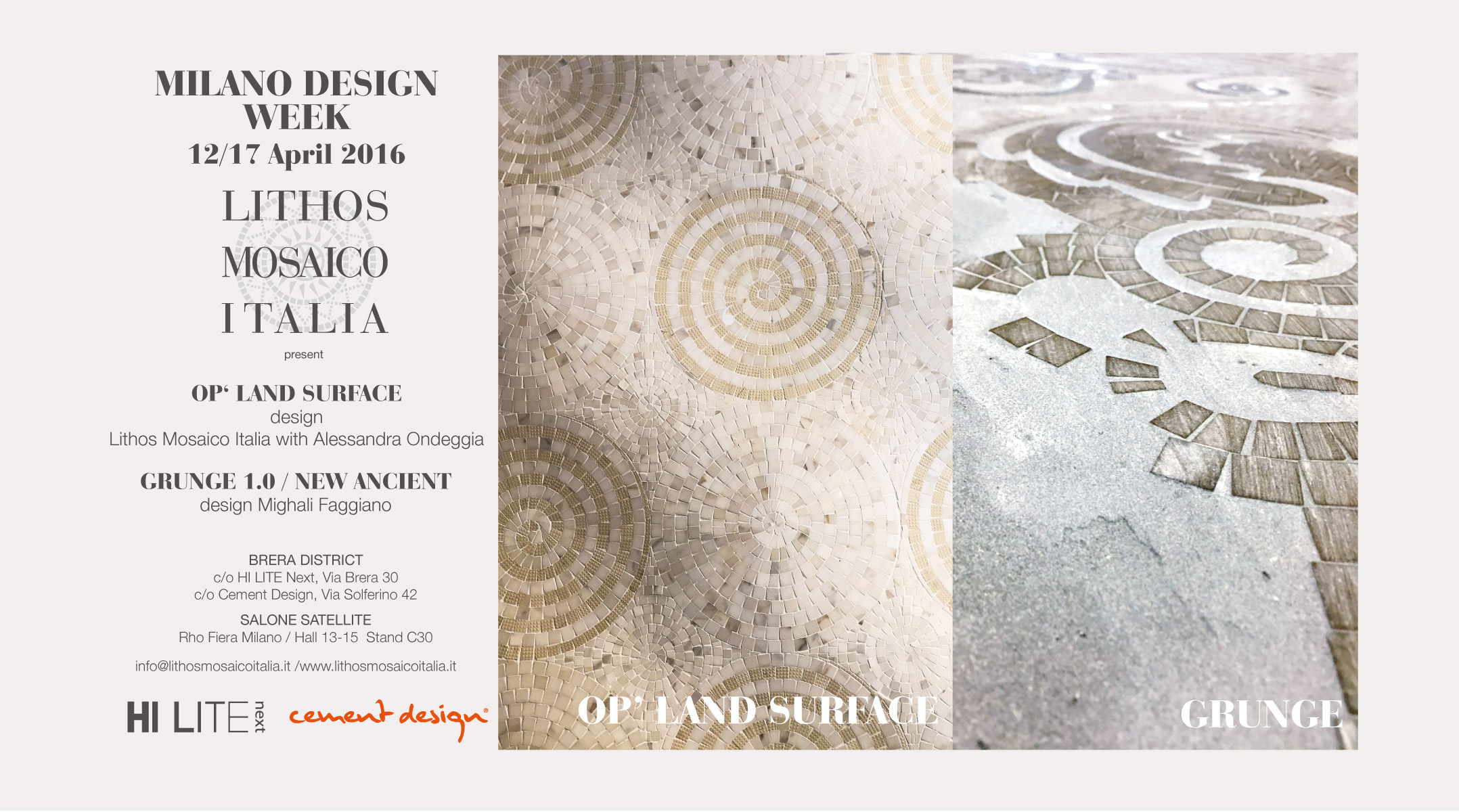 Lithos-Mosaico-Italia_Milano-Design-Week-2016- Milano Design Week 2016 Fiere