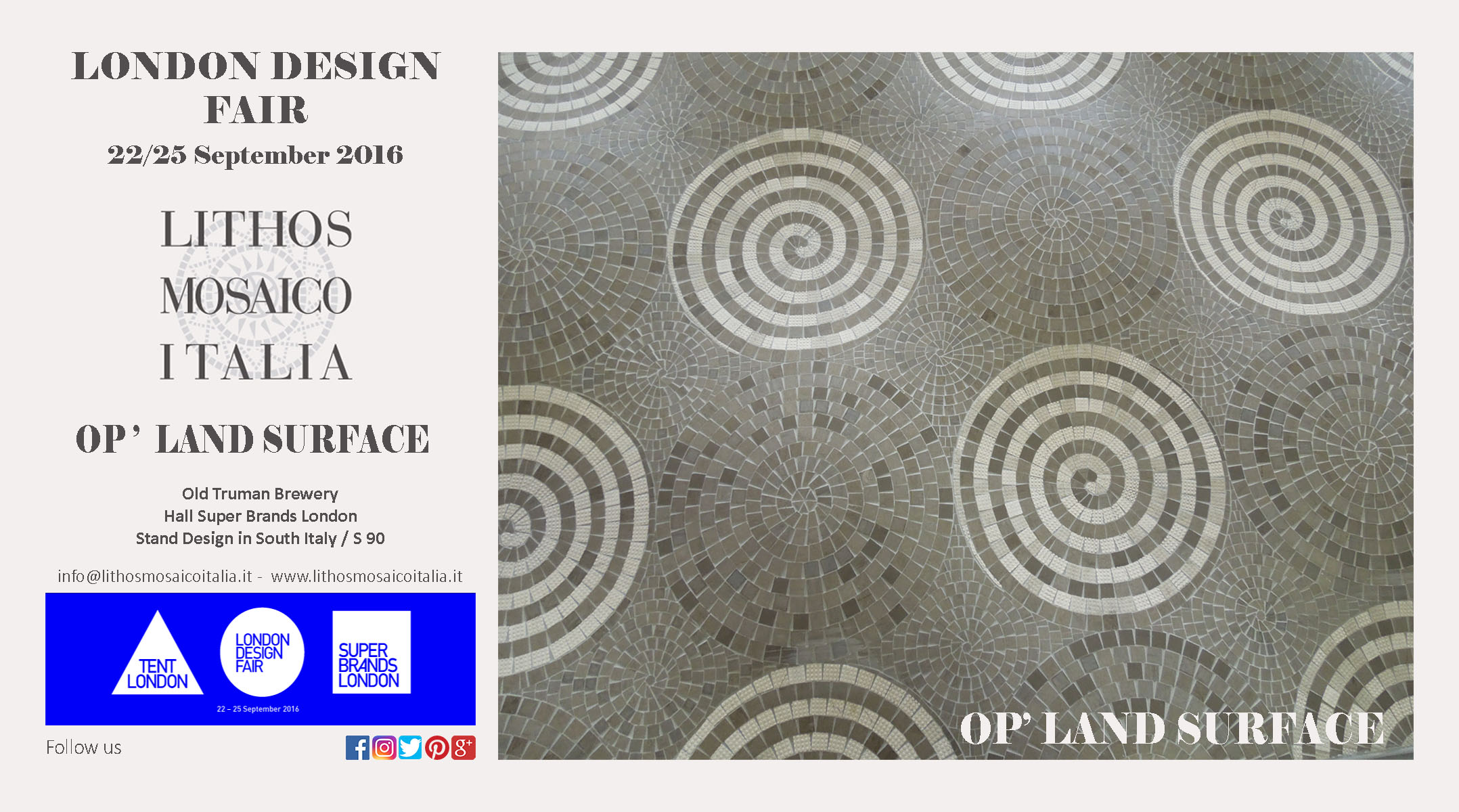 London-Design-Fair-2016-LithosMosaicoItalia-OPLandWall London Design Fair 2016 Fiere