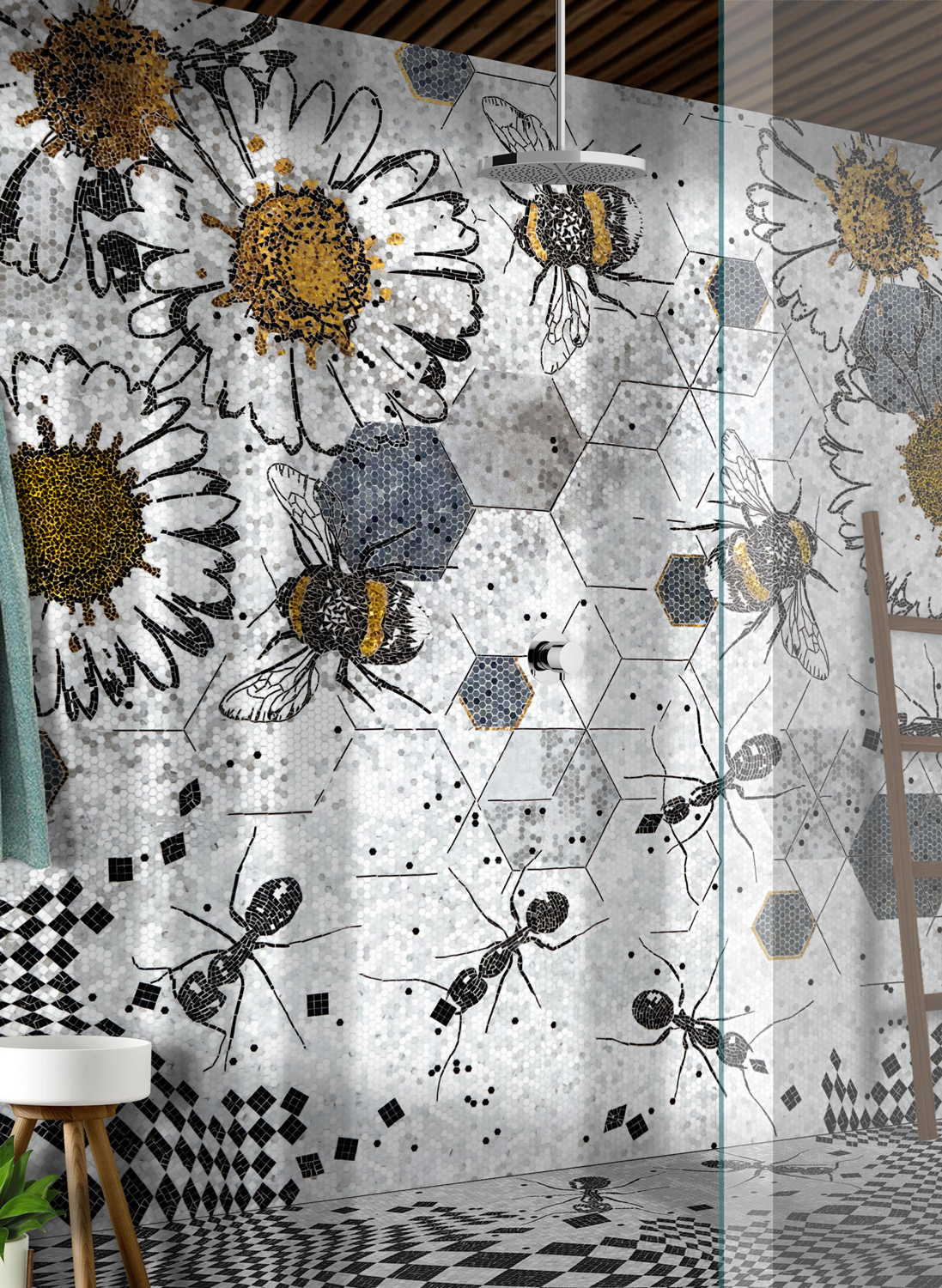 LITHOS-MOSAICO-ITALIA-BEES-design-Andrea-Mighali ANTS & BEES