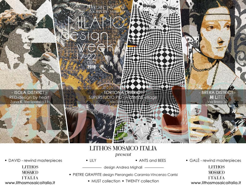 Mostra Design Milano 2018 milano design week 2018 – lithos mosaico italia